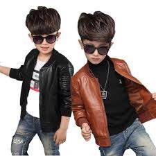 new baby boy leather jacket boys coat black and brown color children jackets manteau garcon kids jacket outerwear 6ct107 black jacket for kids childrens