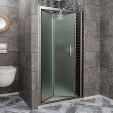 frosted bifold shower door fbdr