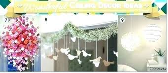 decoration made of paper ceiling decorations decorating ideas chandeliers made with paper and poms for wedding