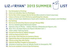 in the meantime we are definitely celebrating the excitement that we have had this summer our bucket list has definitely helped us keep our priorities