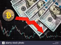 Depreciation Of Virtual Money Bitcoin Red Arrow Silver