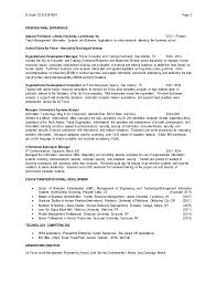 Sample Resume For Adjunct Professor Position