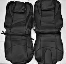 fits 2003 2008 nissan 350z w pwr seats black leather upholstery seat cover set