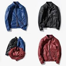ashley may 3 colors hot s autumn winter leather coat outwear men fashion cool motorcycle pu
