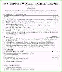 Modern Resume Not Including Objective Warehouse Resume Objective 48 Creative Concepts You Should Know