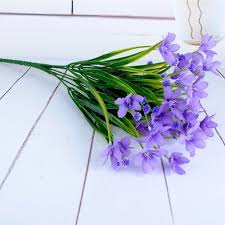beautiful fake purple home decor artificial orchid flowers