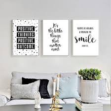 beautiful design ideas wall art home decor designing inspiration inspirational quote canvas posters black white prints on home wall art quotes with wall art home decor www fitful fo