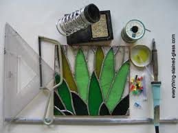 toolaterials for stain glass making