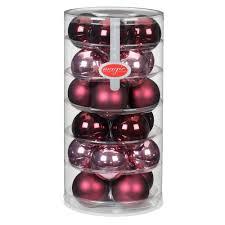 Weihnachtskugeln Rosé Rot Matt Und Glänzend 6 Cm 24 Stück