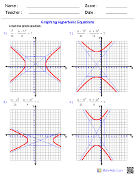 conic sections worksheets algebra 2 worksheets