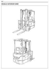 toyota electric forklift truck 7fbe10 7fbe13 7fbe15 7fbe18 original illustrated factory workshop service manual for toyota electric forklift truck type 7fbe original factory