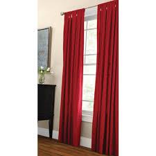 martha stewart living semi opaque vermillion classic cotton tab top curtain 1622292 the home depot