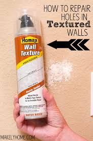 how to repair textured drywall