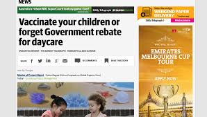child care rebate and vaccination no needles no money daily telegraph