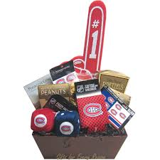 montreal canans gift basket nhl gift baskets gifts for him hockey gift baskets