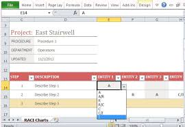 Raci Chart Xls Free Raci Chart Template For Excel