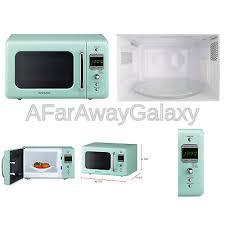 daewoo kor 7lrem retro countertop microwave oven 0 7 cu ft 700w