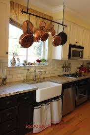 Kitchen hanging rack Wall Love The Pot Rack And Kitchen Sink o Pinterest Welcome To Inspiration Friday No 52 Kitchen Dreams u003c3 Pinterest