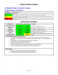 Weekly Project Status Report Sample Example Of Project Status Report Management Template Best Reporting