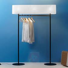 Floor Lamp Coat Rack Classy Nomad Floor Lamp And Coat Rack In One Lightsie