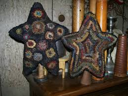 pattern primitive hooked rug stars by hooked on primitives 12 00
