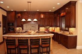 ... Large Size Of Furniture Custom Made Kitchen Cabinets Dark Brown Color  Cool Lamp Decor With Amazing ...