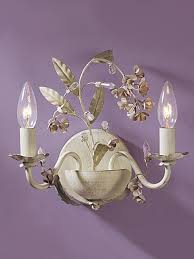 laura ashley blossom double wall sconce
