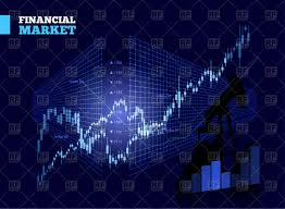Free Stock Market Charts And Graphs Stock Market Chart On Blue Background Stock Vector Image