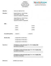 template to create a printable resume