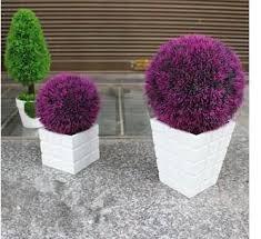Decorative Boxwood Balls 100 100cm Diameter Violet Artificial Plastic Boxwood Ball Grass 4