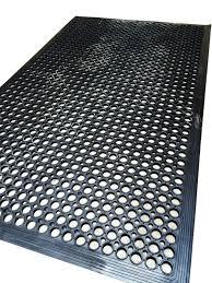 anti slip decking work floor rubber mat anti fatigue camping caravan boat