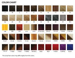 Well Hair Color Chart The Wigs And Hair Extensions Colour Guide