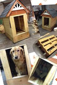Creative Dog Houses Gable Roof From The Box Of Play House Wood Used To Build Dog House