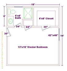 master bathroom floor plans with walk in closet.  Closet Master Bedroom 12x16 Floor Plan With 6x8 Bath And Walk In Closet Inside Bathroom Floor Plans With Walk In Closet E