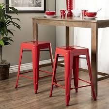 red counter height stools. Delighful Counter Image Is Loading Setof2SquareRedMetalStackingChairs Throughout Red Counter Height Stools U