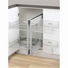 kitchen cupboard corner baskets best of kaboodle 2 tier chrome blind corner soft close pull out baskets