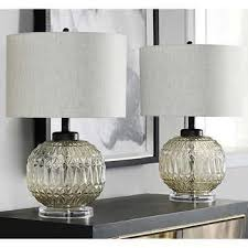 lucca glass table lamp 2 pack vintage