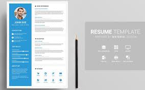 unique resume template 20 professional material design resume templates
