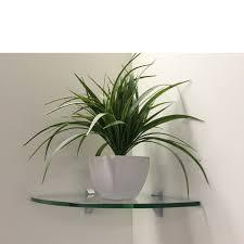 Glass Corner Shelves Uk Glass Corner Shelf 100x100x100mm Mastershelf 21