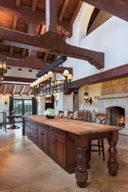 large traditional kitchen is made to look more spacious than it already is with the vaulted