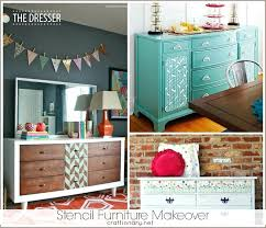 furniture makeovers. Stencils For Furniture Great Stencil Makeovers Free Templates