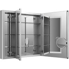 recessed bathroom medicine cabinets. KOHLER Verdera X 30-in Rectangle Surface/Recessed Mirrored Aluminum Medicine Cabinet Recessed Bathroom Cabinets P