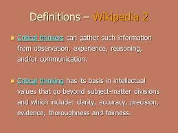 Critical Thinking   Required If We are to have Real Freedom     Wikipedia