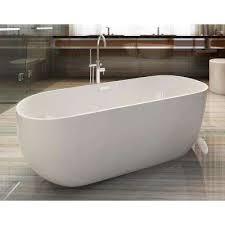 acrylic flatbottom bathtub in white