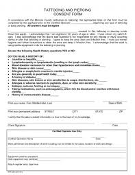 Tattoo Release Form Stunning Consent Tattoo Form Wondrous Templates Canada California Nyc Pladevia