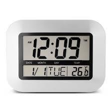 edo sliver alarm clock digital lcd