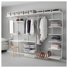 interesting ikea algot system with white wire shelving for closets and wood closet organizers ikea