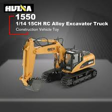 <b>HUINA 1550</b> 1/14 2.4G 15CH <b>RC</b> Alloy Excavator Truck ...