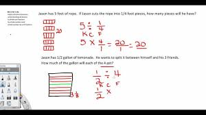 Grade Dividing Fractions 5th Grade Common Core YouTube Envision ...