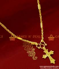 smdr65 gold plated jewellery small cross dollar short chain indian jewelry 130 3 850x1000 jpg